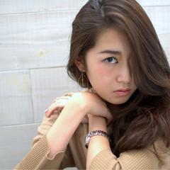 モード 外国人風 レイヤーカット ロング ヘアスタイルや髪型の写真・画像