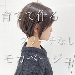 ミルクティー ショートボブ ショートヘア ショート ヘアスタイルや髪型の写真・画像