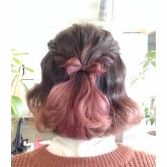 ナチュラル ヘアアレンジ グラデーションカラー ガーリー ヘアスタイルや髪型の写真・画像