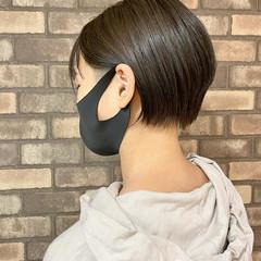 アディクシーカラー 大人ショート ツーブロック ショート ヘアスタイルや髪型の写真・画像