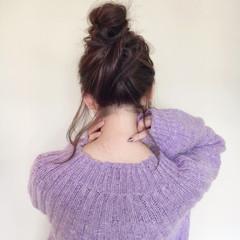成人式 簡単ヘアアレンジ ミディアム ナチュラル ヘアスタイルや髪型の写真・画像