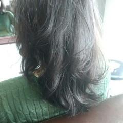 ワンカール ストレート ミディアム ストリート ヘアスタイルや髪型の写真・画像