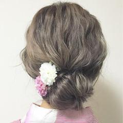 ゆるふわ ショート ロング 簡単ヘアアレンジ ヘアスタイルや髪型の写真・画像