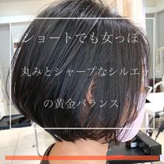 大人ショート ショート ミニボブ ハンサムショート ヘアスタイルや髪型の写真・画像