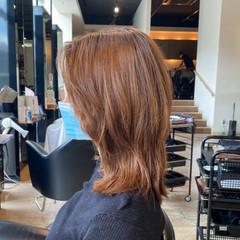 360度どこからみても綺麗なロングヘア ミディアム かき上げ前髪 簡単スタイリング ヘアスタイルや髪型の写真・画像