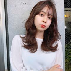 フェミニン モテ髪 ひし形シルエット くびれカール ヘアスタイルや髪型の写真・画像