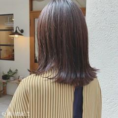 秋冬スタイル ボブ 切りっぱなしボブ 大人かわいい ヘアスタイルや髪型の写真・画像
