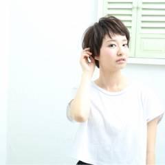 ショート ショートバング ヘアスタイルや髪型の写真・画像