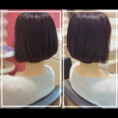 白髪染め ミディアム 社会人の味方 髪質改善トリートメント ヘアスタイルや髪型の写真・画像