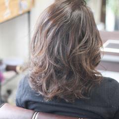 ゆるふわ ミディアム 透明感カラー ガーリー ヘアスタイルや髪型の写真・画像