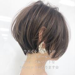 ショートヘア ショートボブ インナーカラー ナチュラル ヘアスタイルや髪型の写真・画像