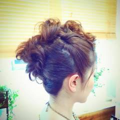 結婚式 編み込み ヘアアレンジ ウェーブ ヘアスタイルや髪型の写真・画像