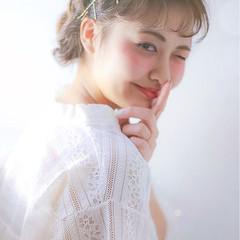 編み込み ショート ヘアアクセ ヘアピン ヘアスタイルや髪型の写真・画像