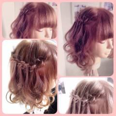 三つ編み ヘアアレンジ モード ガーリー ヘアスタイルや髪型の写真・画像
