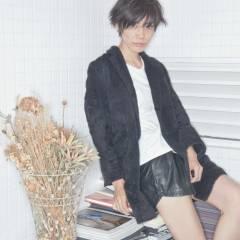 モード ショート かっこいい 暗髪 ヘアスタイルや髪型の写真・画像