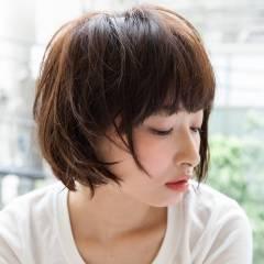 ショート 抜け感 ナチュラル ショートボブ ヘアスタイルや髪型の写真・画像