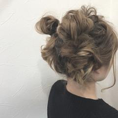ヘアアレンジ ガーリー ふわふわヘアアレンジ ミディアム ヘアスタイルや髪型の写真・画像