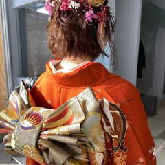 成人式カラー ボブ 成人式 成人式ヘアメイク着付け ヘアスタイルや髪型の写真・画像