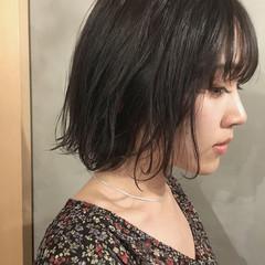ショートヘア 切りっぱなしボブ ミニボブ ボブ ヘアスタイルや髪型の写真・画像