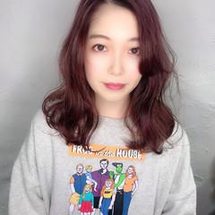 ピンクベージュ ミルクティーベージュ ピンクブラウン ラベンダーピンク ヘアスタイルや髪型の写真・画像