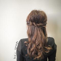 大人女子 簡単ヘアアレンジ ヘアアレンジ セミロング ヘアスタイルや髪型の写真・画像