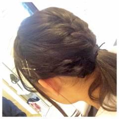 簡単ヘアアレンジ まとめ髪 学校 ヘアアレンジ ヘアスタイルや髪型の写真・画像