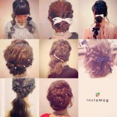ショート モテ髪 簡単ヘアアレンジ ヘアアレンジ ヘアスタイルや髪型の写真・画像