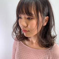大人可愛い ミディアム ナチュラル ミディアムレイヤー ヘアスタイルや髪型の写真・画像