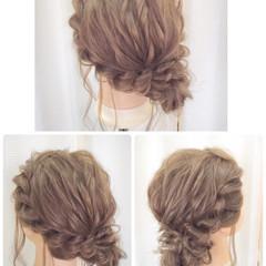 結婚式 ヘアアレンジ ルーズ アップスタイル ヘアスタイルや髪型の写真・画像