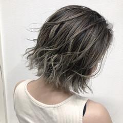 ハイライト バレイヤージュ 外国人風カラー ショートヘア ヘアスタイルや髪型の写真・画像