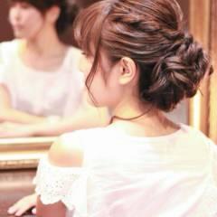 ヘアアレンジ アップスタイル 結婚式 コンサバ ヘアスタイルや髪型の写真・画像