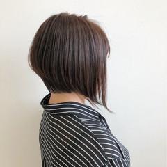 艶髪 ボブ ショート 前下がり ヘアスタイルや髪型の写真・画像