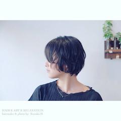 ボブ ガーリー 透明感 女子会 ヘアスタイルや髪型の写真・画像