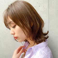 大人かわいい ナチュラル 簡単スタイリング 毛先パーマ ヘアスタイルや髪型の写真・画像
