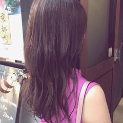 透明感カラー セミロング oggiotto ラベンダーカラー ヘアスタイルや髪型の写真・画像