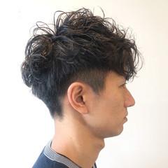 ショート 無造作パーマ ストリート メンズ ヘアスタイルや髪型の写真・画像