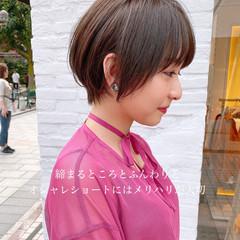 ショート 簡単スタイリング ショートボブ マッシュショート ヘアスタイルや髪型の写真・画像