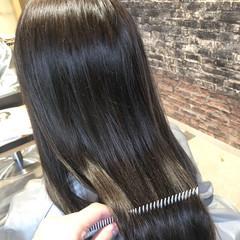 デート トリートメント ロング 髪質改善 ヘアスタイルや髪型の写真・画像