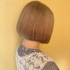 ミニボブ ナチュラル シアーベージュ ミルクティーベージュ ヘアスタイルや髪型の写真・画像
