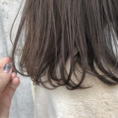 ロブ ブラウン ボブ ナチュラル ヘアスタイルや髪型の写真・画像