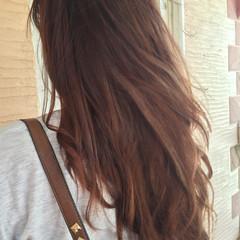 グラデーションカラー ブラウン ハイライト ストリート ヘアスタイルや髪型の写真・画像