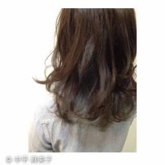 セミロング 暗髪 スモーキーカラー ダブルカラー ヘアスタイルや髪型の写真・画像