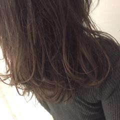 グラデーションカラー 暗髪 ストリート セミロング ヘアスタイルや髪型の写真・画像
