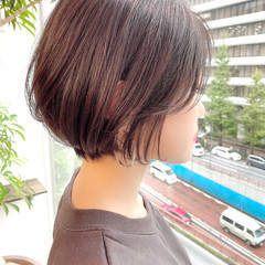 ショート ショートヘア ナチュラル オフィス ヘアスタイルや髪型の写真・画像