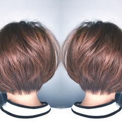 ボブ デート 上品 リラックス ヘアスタイルや髪型の写真・画像