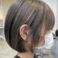 ナチュラル ショートボブ 艶カラー ショート ヘアスタイルや髪型の写真・画像