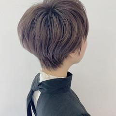 ショート ミルクティーベージュ ベリーショート ショートヘア ヘアスタイルや髪型の写真・画像