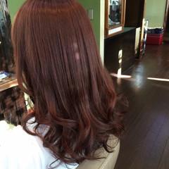 秋 フェミニン ピンク コンサバ ヘアスタイルや髪型の写真・画像