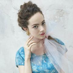 外国人風 大人かわいい ヘアアレンジ フェミニン ヘアスタイルや髪型の写真・画像