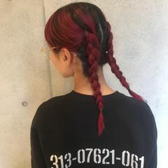 セミロング 外国人風 簡単ヘアアレンジ ストリート ヘアスタイルや髪型の写真・画像